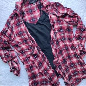 Red flannel Cardigan